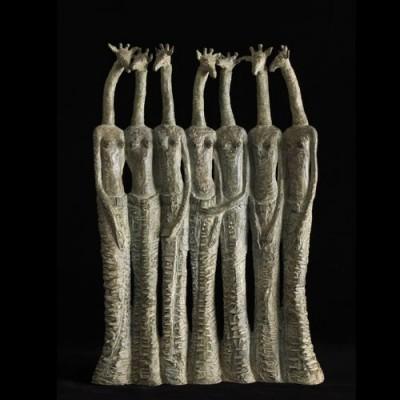 Sept girafes