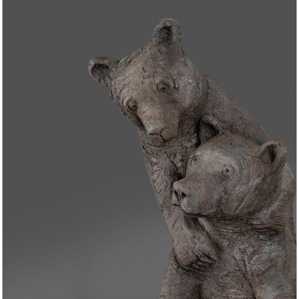 Trois ours sur une pierre