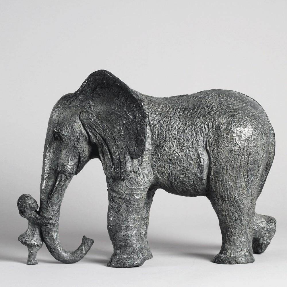 Les retrouvailles, sculpture bronze