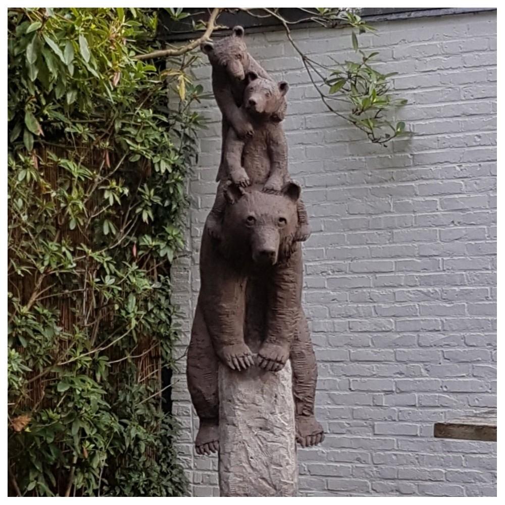 3 ours sur un rocher